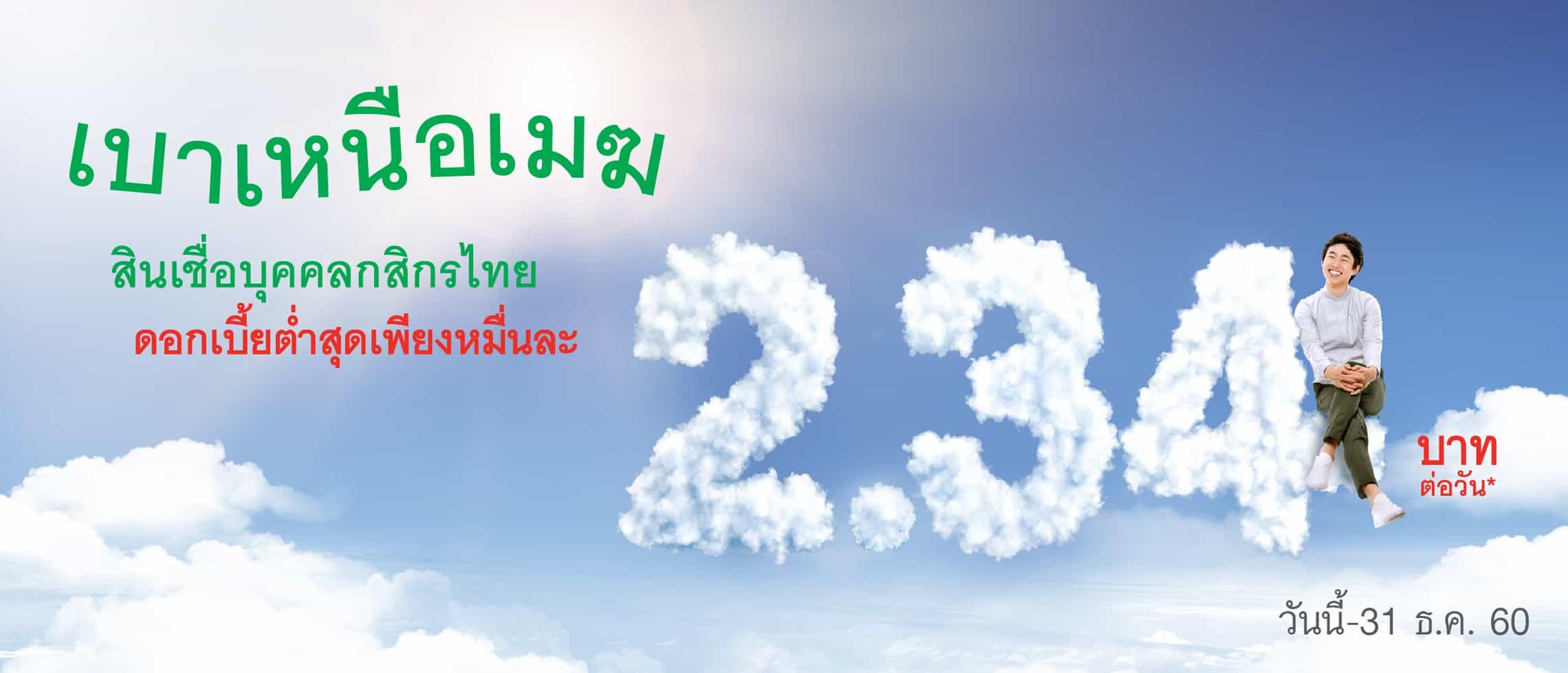 สมัครสินเชื่อกสิกรไทย สินเชื่อบุคคล สินเชื่อเงินสดอเนกประสงค์